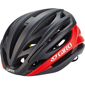 Giro Syntax MIPS Casco, matte black/bright red